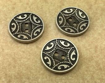 Medieval Star  Antique Silver  Designer Button  B12  7406