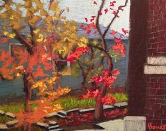 "Original Art Impressionist Plein Air Painting ""Last Holdouts"" art landscape impressionism"