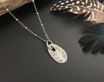The Giving Tree Recycled  Sterling Silver Necklace