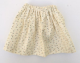 SALE doll skirt cotton with dots