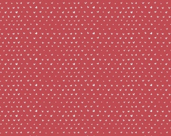 dear Stella FABRIC - Hearts - Punch