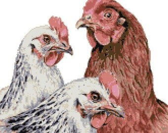 Hens counted cross stitch kit