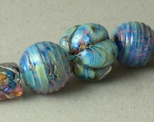 SRA Lampwork Handmade Beads by Catalinaglass Clio Set of 7
