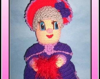 Red Hat Iowa Doll Crochet Pattern
