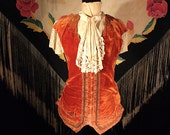 Unique Victorian opera costume of a  17th Century Gentleman's Court Vest with lace Jabot Sutherland Costume Co