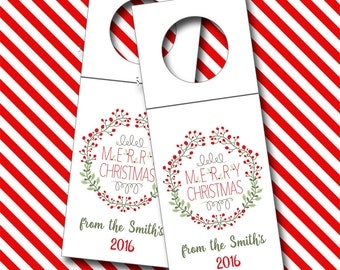 Personalized Wine Tags, Christmas Bottle Tags, Wine Tags - Set of 6