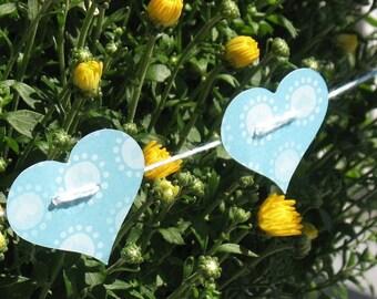 Blue Heart Strings - Decorative Garland