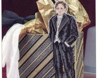 Gentlemen's Gift Bag ~ plastic canvas pattern  ~  Annie's