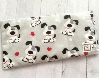 Microwavable Heating Pad, Flannel, Aromatherapy, Hot Cold pack, Heat Therapy, Removable Cover, soothing relief, Doula, Puppy Love