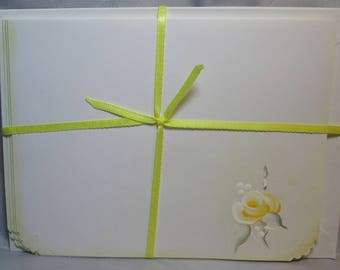 Handpainted Note Cards Yellow Roses