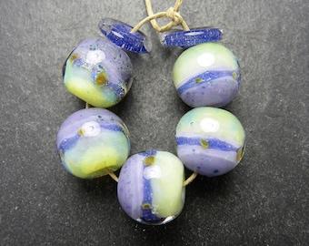 CrazyCatGlass Lampwork Boro Glass Beads Handmade Fresh Rounds