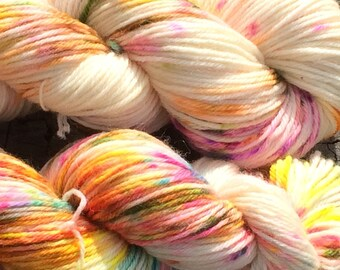 """Ice Dyed worsted weight yarn  -  """"Passive Aggressive"""" in stock, ready to ship"""