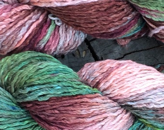 "100% Pima cotton yarn - ice dyed ""Bayou"" - aran weight - in stock, ready to ship!"