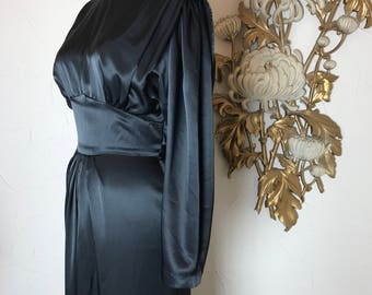 1980s dress satin dress low back dress size medium 80s does the 30s 28 waist 1930s style dress