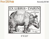 March Madness Personalized Rhinoceros Bookplate Ex Libris Rubber Stamp F15