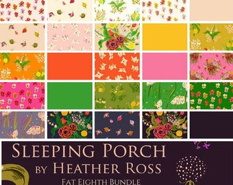 Fat Quarter Bundle - Sleeping Porch - By Heather Ross - For Windham - 25 Pieces - 57.99 Dollars