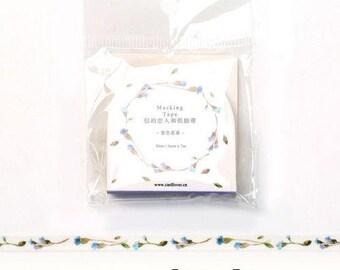 Floral Washi Tape, Flower Pattern Washi Tape, Floral Ivy Vine Washi Tape