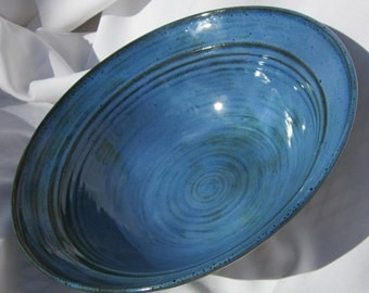 Bowl in Beautiful Blue on Porcelain - Handmade Pottery