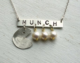 Munch Necklace- Sterling Silver with Pearls