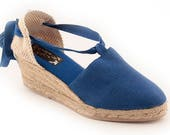 6 cm Valencian espadrilles - lace up