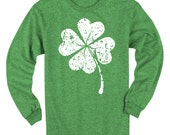 Lucky Four Leaf Clover Long Sleeve Kids T-shirt