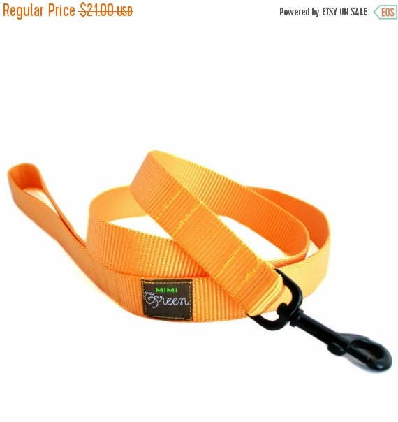 SALE Nylon Webbing Dog Leash - 6 feet - 17 colors to choose from