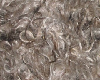 """NEW Mohair, Yearling 1 ounces, 5 inch staple Natural """"red""""  Honey"""
