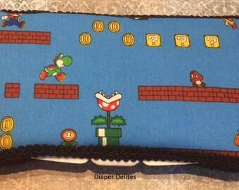 Nintendo Video Game Mario Luigi WIPE Case BOY or GIRL baby shower gift