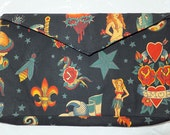 Sample Sale - Tattoo Print Clutch Purse