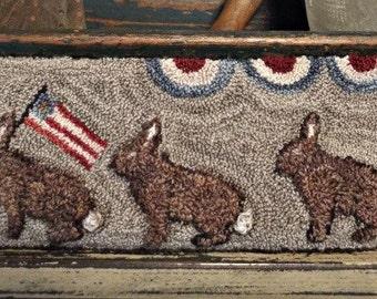 E Pattern Punch Needle  Rabbits On Parade