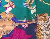 SALE / Gorgeous Exotic Vintage Salvatore Ferragamo Silk Scarf. Free Shipping.