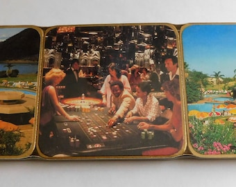 Set of Six Seventies COASTERS  Palm Springs or Las Vegas