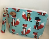 Dapper Foxes Knitting Project Bag