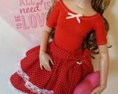 SALE*** OOAK Valentine Dots set for Ellowyne Wilde Volks Dollfie Slim Mini bjd Tonner