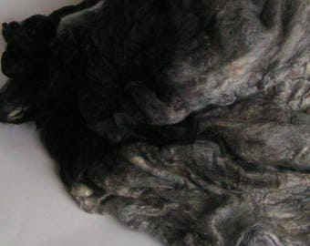 Mawata Silk Hankies Hand Painted The SHADOW KNOWS Knitpack 42 grams Silk Hanky  Knit Spin Felt Fusion Crafts