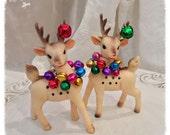 Vintage Christmas Decoration Vintage Reindeer Christmas Ornament Christmas Decor  TVAT