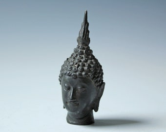 Vintage bronze metal Chinese Tibet Buddha head