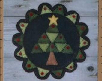 Appliqué Pattern - Christmas Tree - Wool Felt Appliqué Pattern