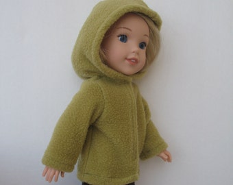 "Wellie Wishers American girl 14.5"" Doll Clothes Jacket with Hood"
