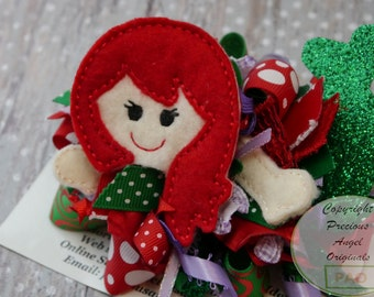 Inspired by Arial the Little Mermaid Funky Loopy Bow