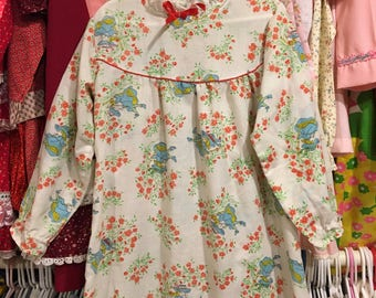 70s Holly Hobbie Night Gown Girls 5/6