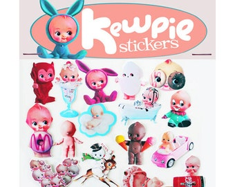 kewpie stickers cute big eye dolly baby boopsiedaisy sticky poos
