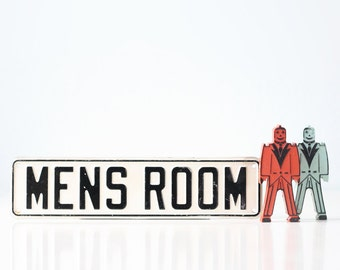 Vintage MEN'S ROOM Sign