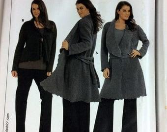 UNCUT Burda 7710 Misses' Jacket  Sewing Pattern Size 18-34 Bust 40-60 inches UNCUT Plus Size