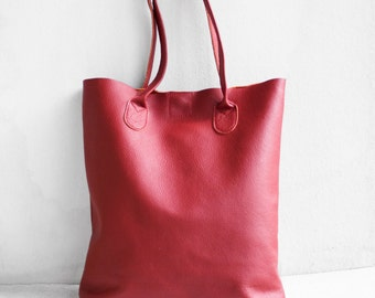 The Essential Tote in Cinnamon/ Leather Tote Bag / Leather Bag