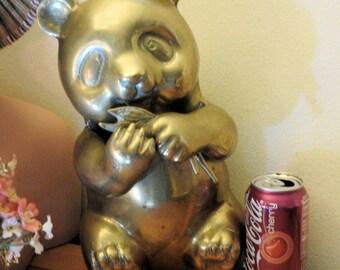 Large Brass Panda Bear from Brass Baron in San Diego