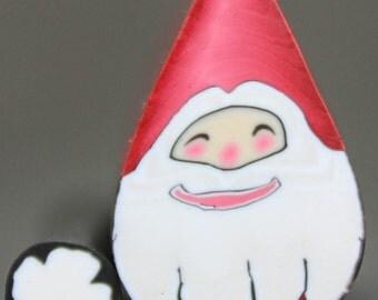 Santa Claus Polymer Clay Face Cane (21dd)
