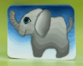 SMALL Polymer Clay Elephant Cane -'Jungle Journey' series (44A)