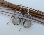 Moonstone Drop Sterling Silver Earrings