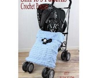 CROCHET PATTERN For Baby Buggy Stroller Blanket Afghan PDF 237 Digital Download